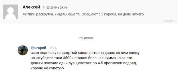 Отзывы о проекте Литвин ставит (Litvin stavit)