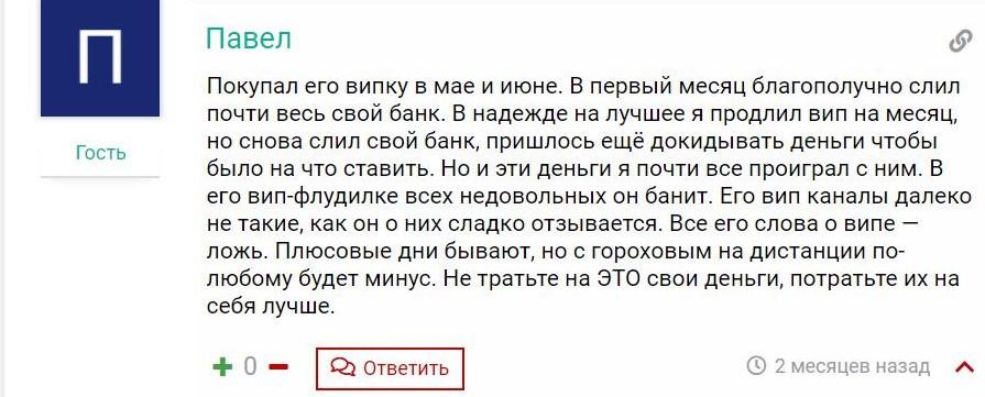 все отзывы о IVAN GOROKHOV