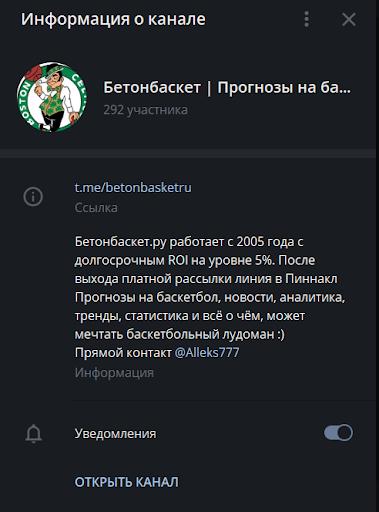 Бетонбаскет Телеграм