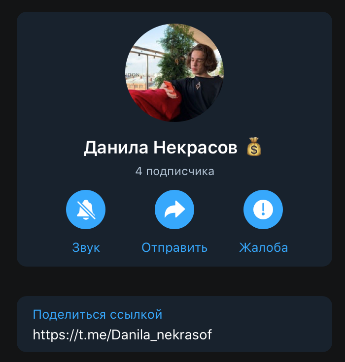 Телеграм Данила Некрасова