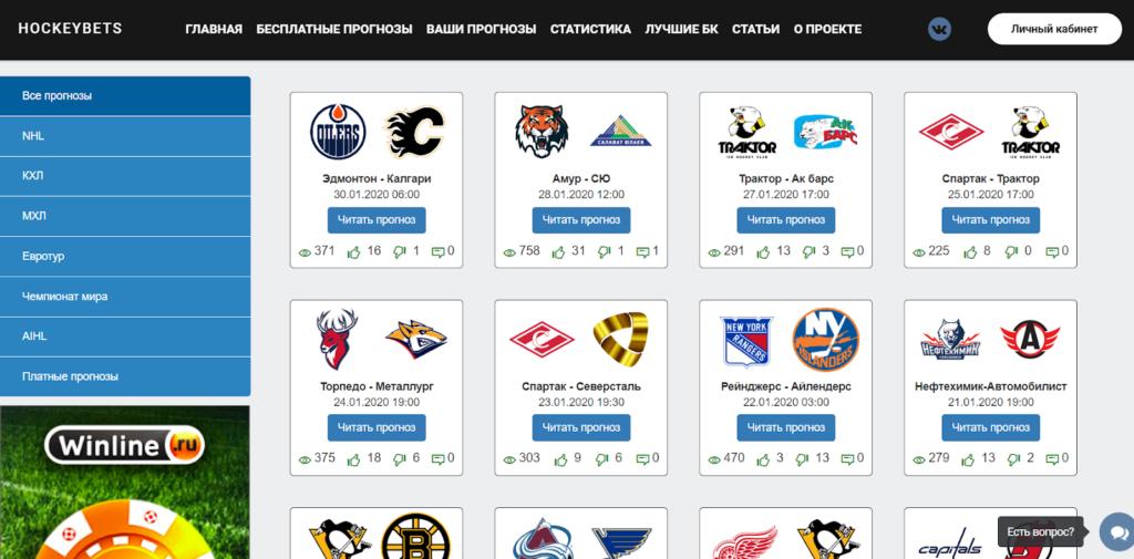 Хоккей Бетс бесплатные прогнозы
