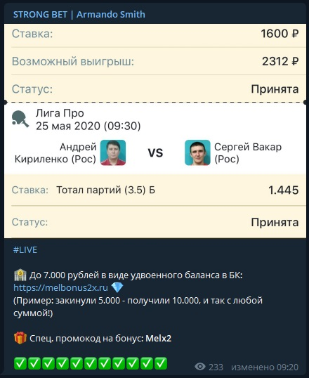 Strong Bet ставки