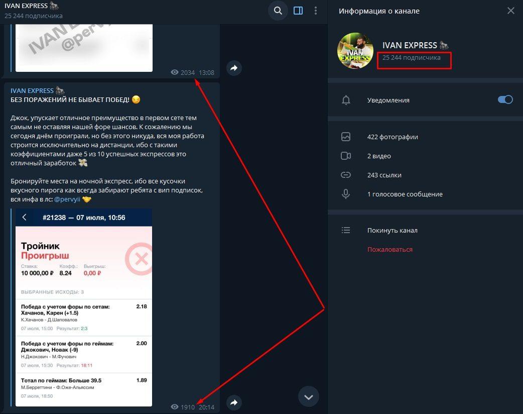 Телеграм канал Иван Экспресс