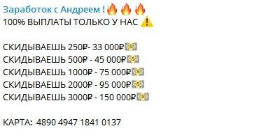 Цена услуг от каппера Андрея Гусарова