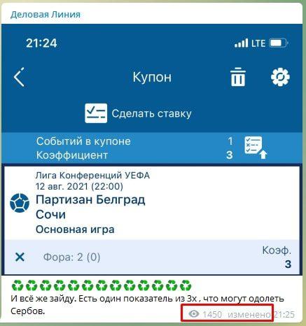 Изменение постов в Телеграм Деловая линия