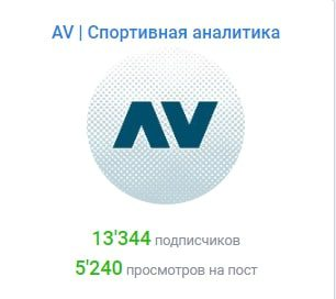 AV | Спортивная аналитика - количество подписчиков