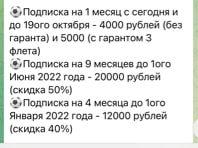 Цены на услуги от каппера Win Club в Telegram